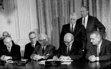Signature of the Outer Space Treaty