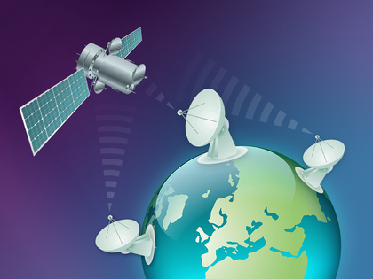 Passive satellite ranging